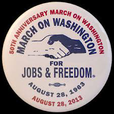 march on washington, 50th pin  (1)